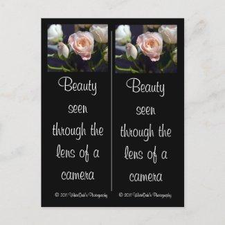 Spray Rose & Rose Bud Bookmarks Postcard postcard