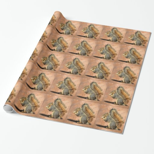 Squirrel Wrapping Paper Zazzle