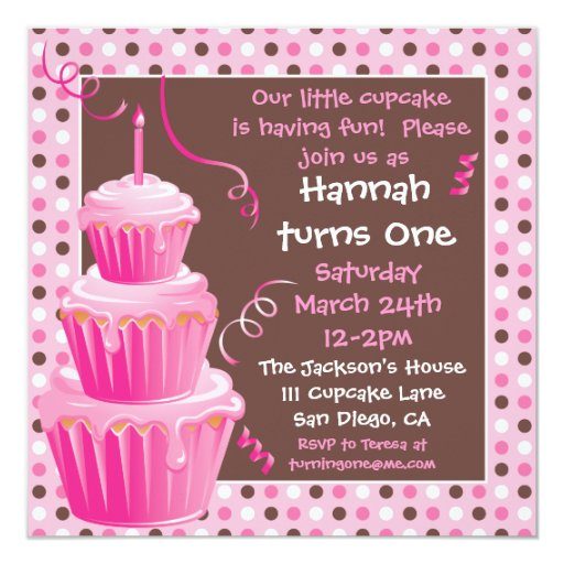 A Cupcake Themed 1st Birthday Party With Paisley And Polka: Stacked Cupcakes 1st Birthday Party With Polkadots