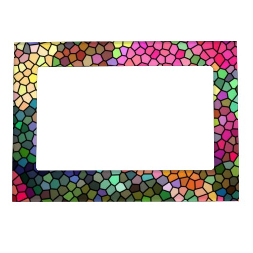 stained glass magnetic picture frame zazzle. Black Bedroom Furniture Sets. Home Design Ideas
