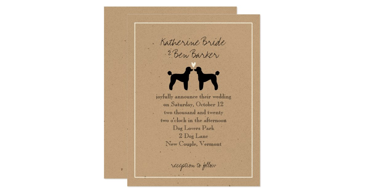 Standard Wedding Invitation Wording: Standard Poodles Wedding Invitation