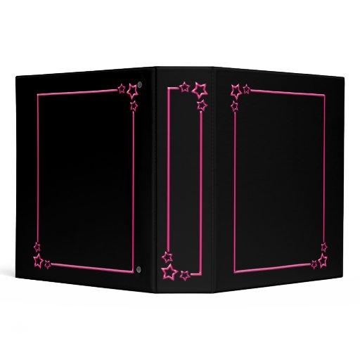 Star Border - Pink - 2 Inch Binders