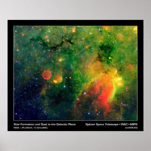 Star Formation & Supernova Nebula IRDC G11.11-0.11 Poster ...