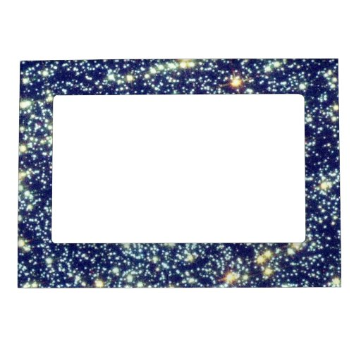 Stars In Space Photo Frame Magnet Zazzle