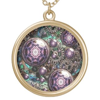 Steampunk and Gears Artful Oasis Fashion Necklace