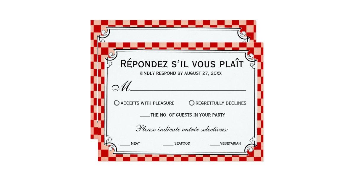 Checkerboard Wedding Invitations: Steampunk Checkerboard Wedding RSVP Cards