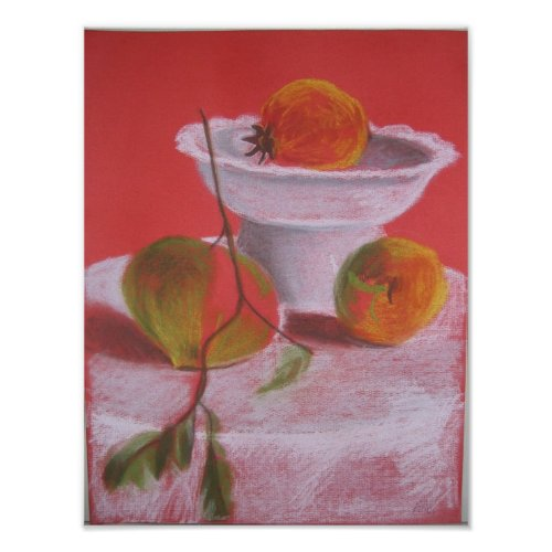 Still life with Bright Fruits print