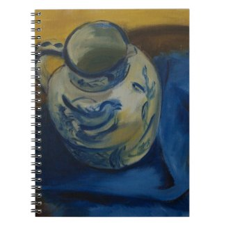 Still Life with Jug & Blue Cloth Notebook