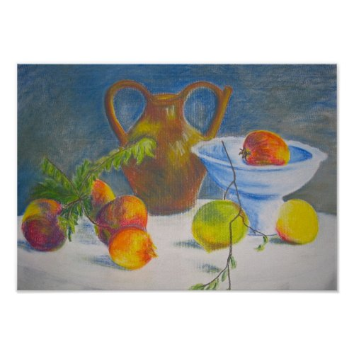Still Life with Scattered Fruit print
