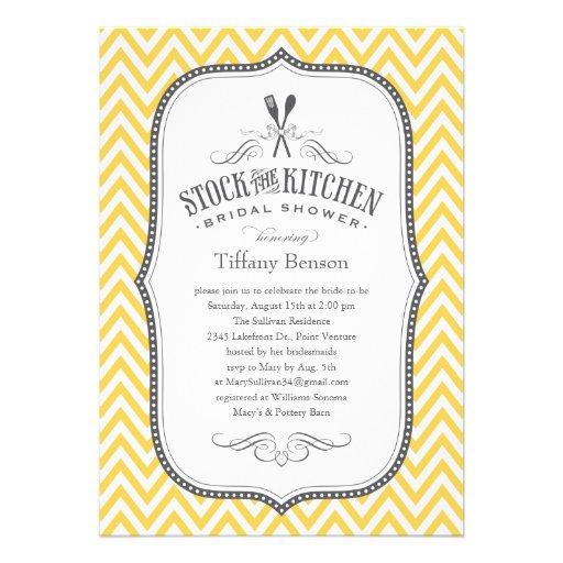 """Stock The Kitchen Bridal Shower Invitations 5"""" X 7"""