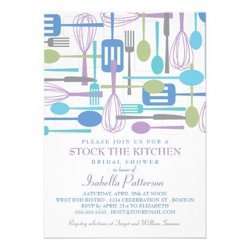 Stock The Kitchen Retro Style Bridal Shower Custom