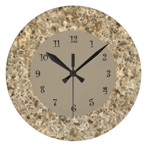 Stone Look Wall Clock Zazzle