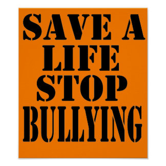 Stop Bullying Posters | Zazzle