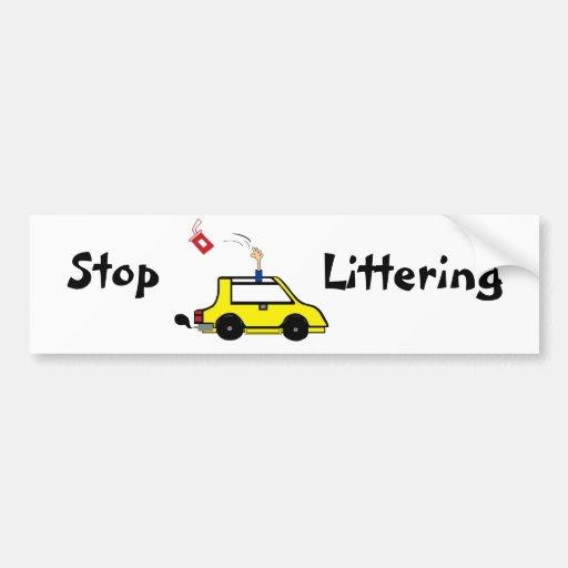 Stop Littering Bumper Sticker Zazzle