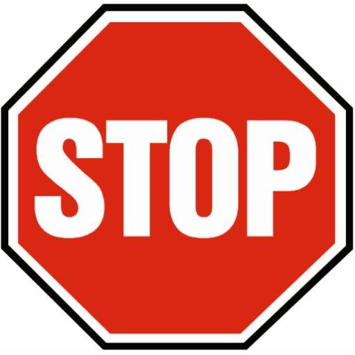 'STOP' sign - Photo Sculpture | Zazzle