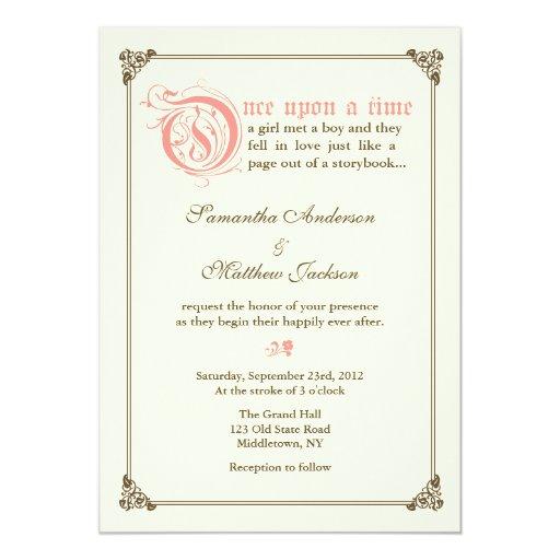 Fairytale Invitations Wedding: Storybook Fairytale Wedding Invitation - Pink