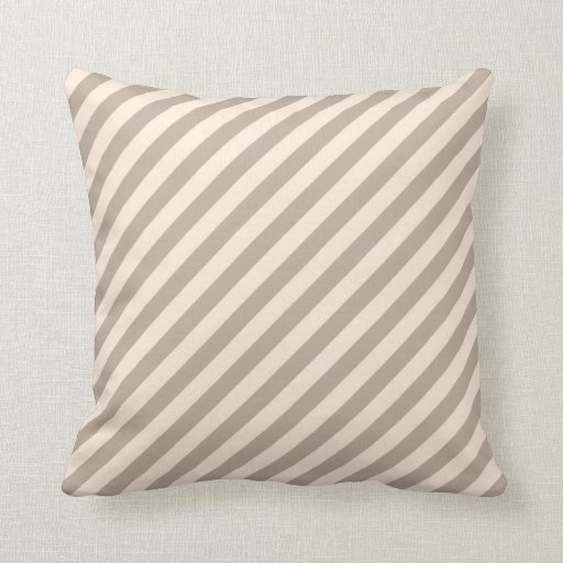 Neutral Color Definition: Stripe Pattern In Neutral Colors . Throw Pillow