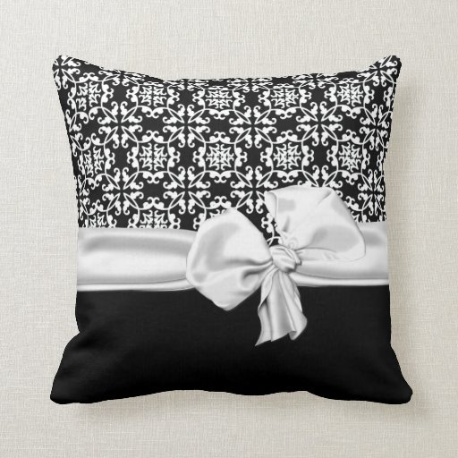 stylish black and white decorator pillow. Black Bedroom Furniture Sets. Home Design Ideas