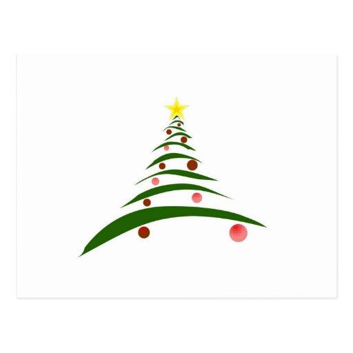 Stylish Christmas Tree Postcard