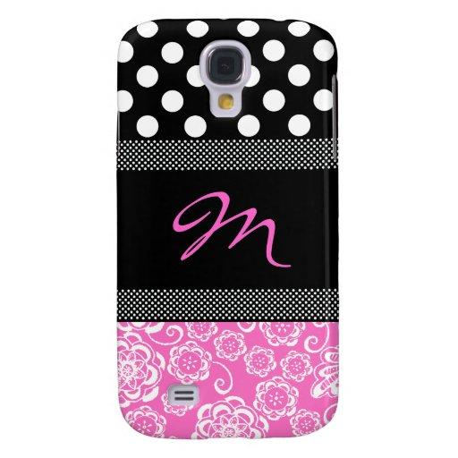 Stylish Girly Monogram Samsung Galaxy S4 Case | Zazzle