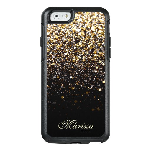 Gold Glitter Iphone C Case