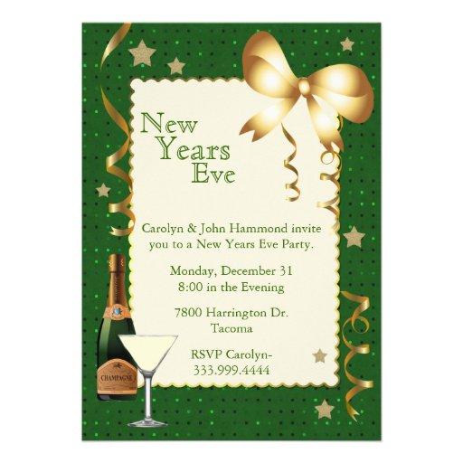 "Stylish New Years Eve Party Invitation 5"" X 7"" Invitation ...  Stylish New Yea..."