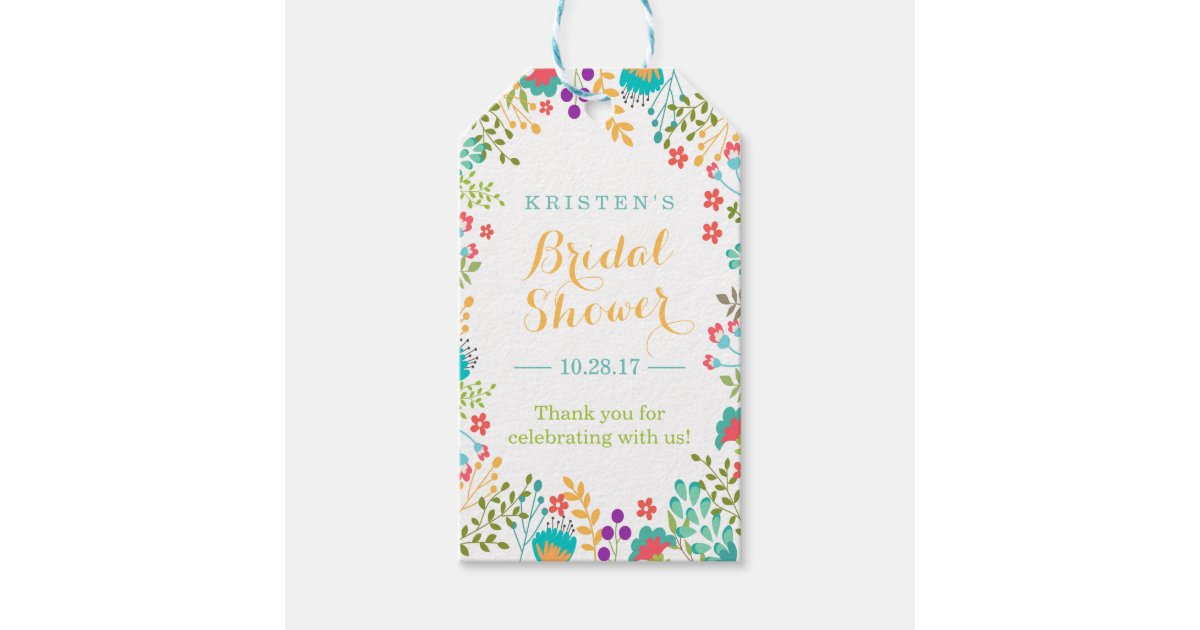 Wedding Shower Thank You Gifts: Summer Bright Cute Flowers Bridal Shower Thank You Gift
