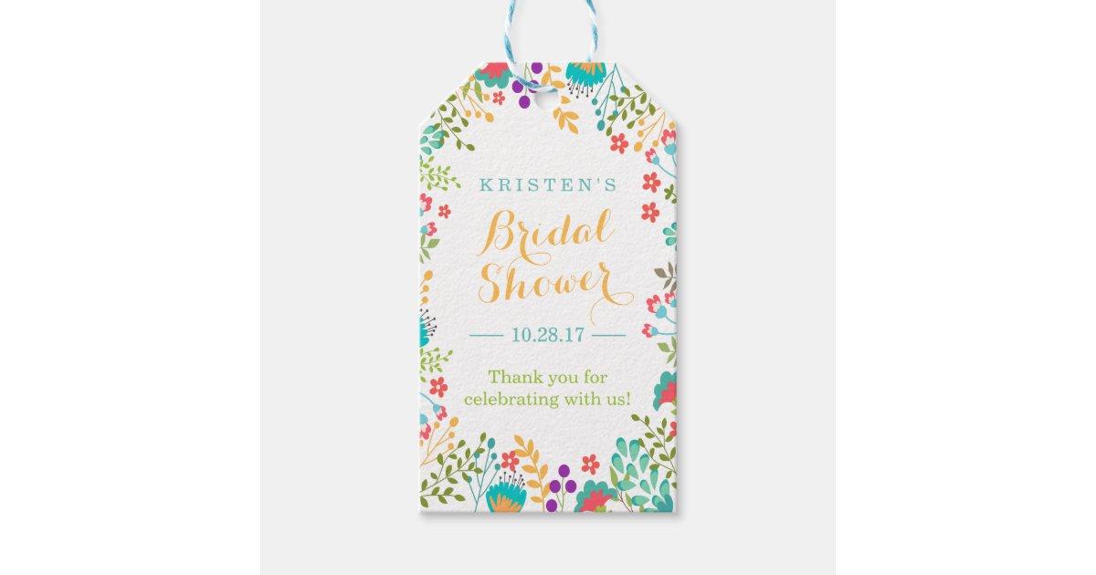Cute Wedding Gift: Summer Bright Cute Flowers Bridal Shower Thank You Gift