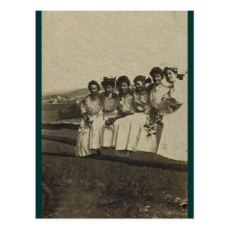 Summer Fence Sitting for girls 1902