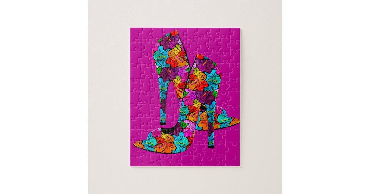 Summer Fun High Heel Shoes Jigsaw Puzzle | Zazzle