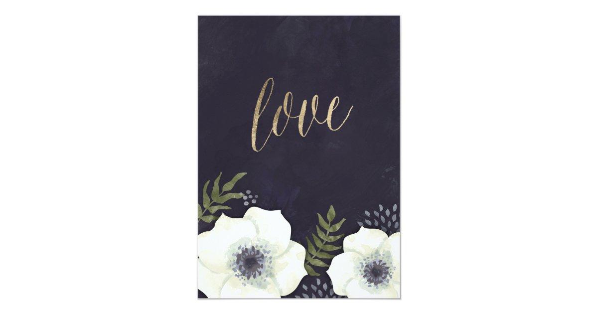 Summer Wedding Invitations: Summer Night Flowers Wedding Invitation