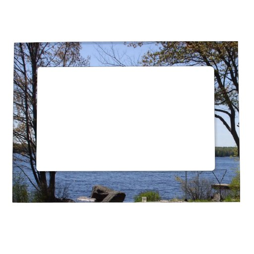 Summer Trees Water Scene Frame Magnets Zazzle