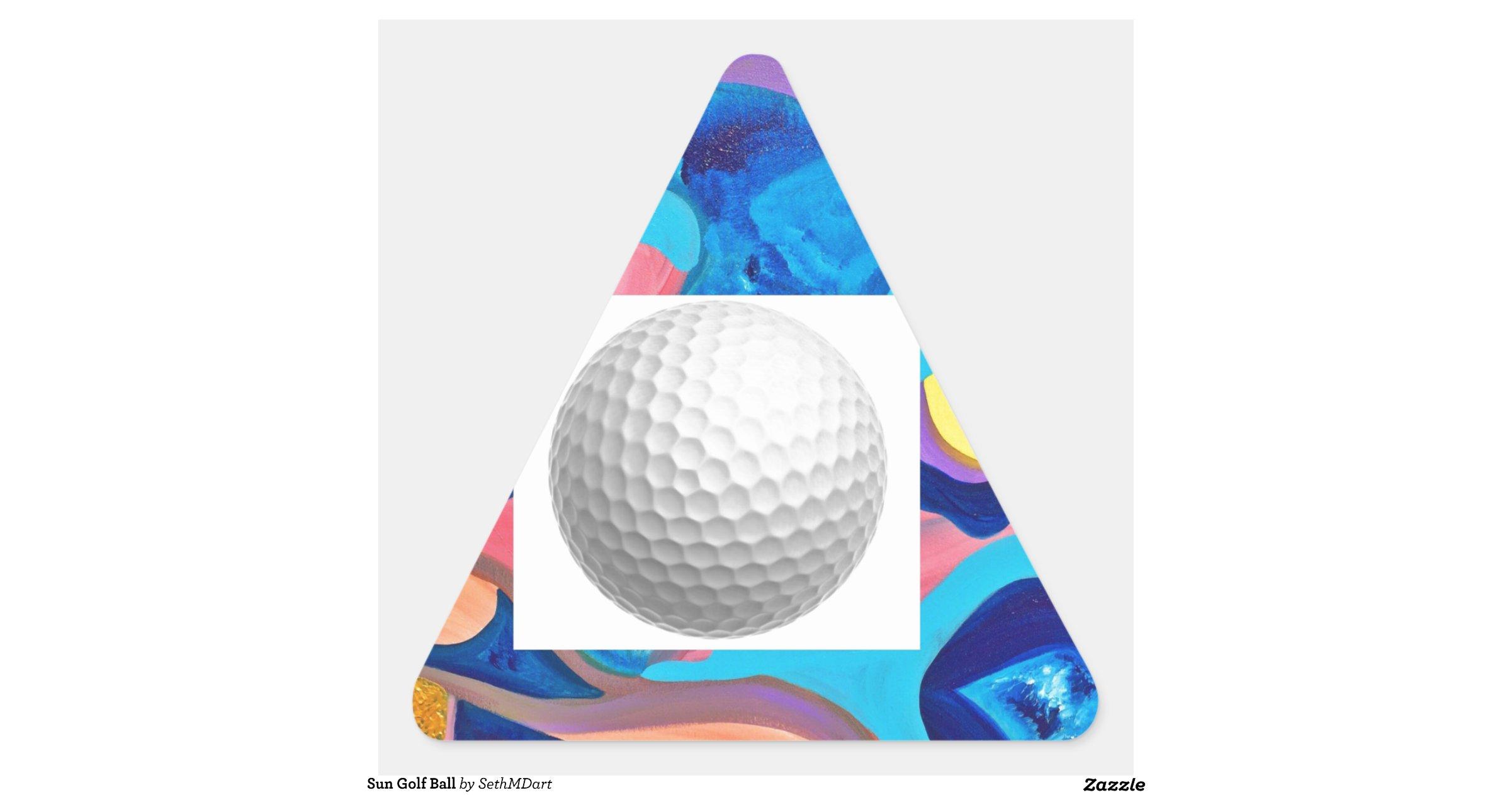 sun golf ball triangle sticker zazzle. Black Bedroom Furniture Sets. Home Design Ideas