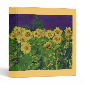 Sunflower Field Vinyl Binders