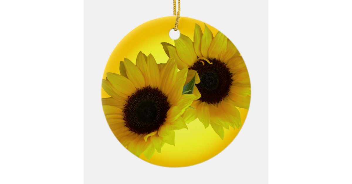 Sunflower Ornament Personalized Sunflower Gifts Zazzle