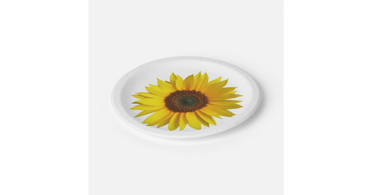 Sunflower Paper Plates Zazzle