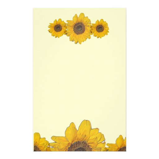 Sunflower Trio Stationery Zazzle