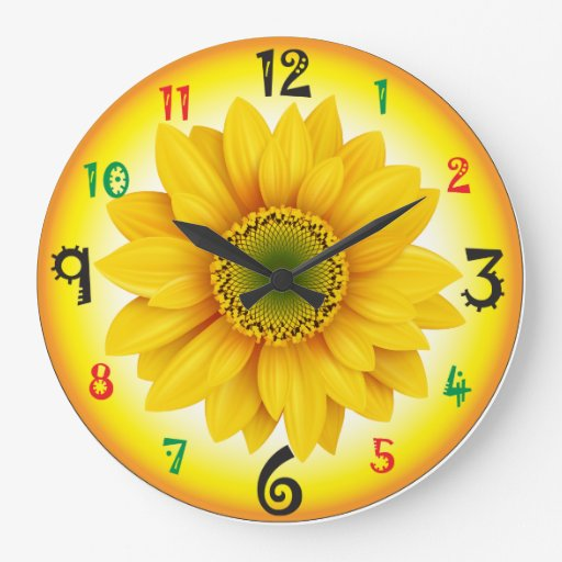 Sunflower Wall Clock Zazzle