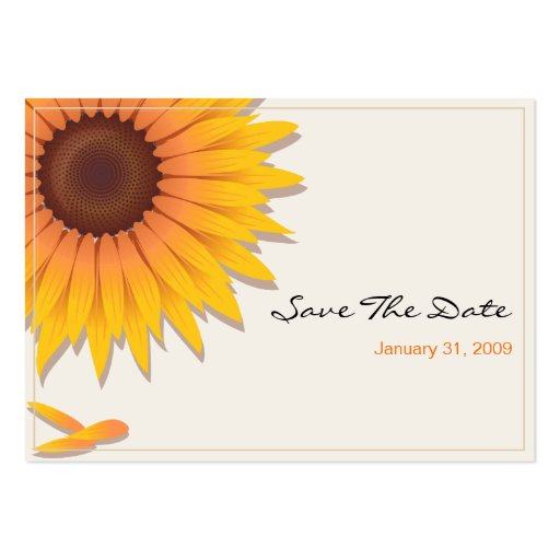 business save the date templates free - sunflower wedding save the date minicard 2 large business