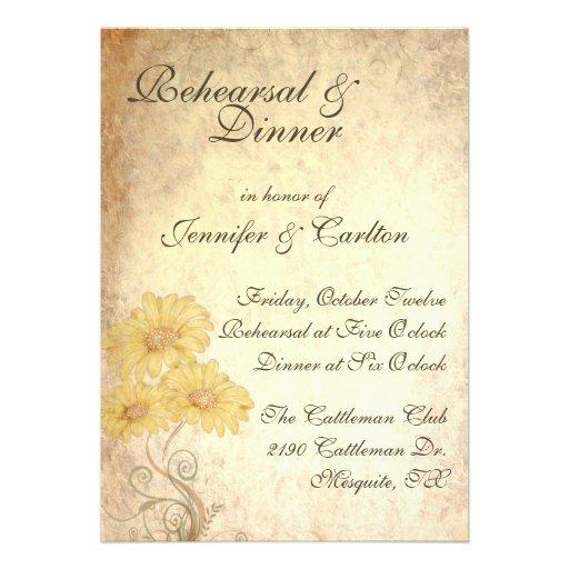 Wedding Rehearsal Invitations: Sunflowers Wedding Rehearsal Dinner Invitation