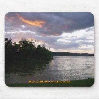 Sunrise Over River at Point Park mousepad