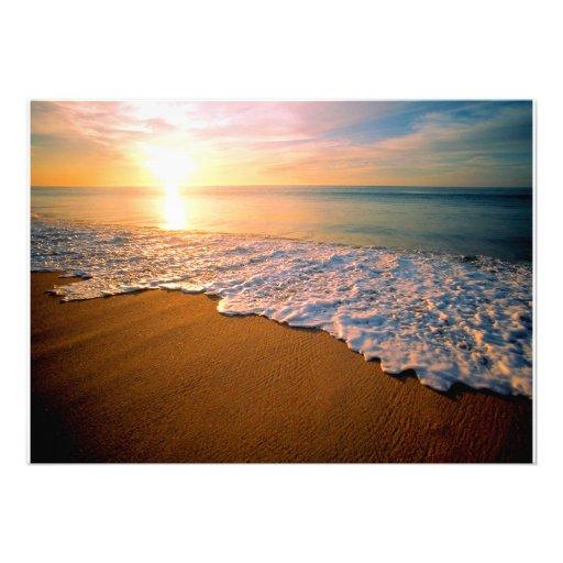 "Sunset Beach Wedding Ideas: Sunset Beach Wedding Invitation 5"" X 7"" Invitation Card"