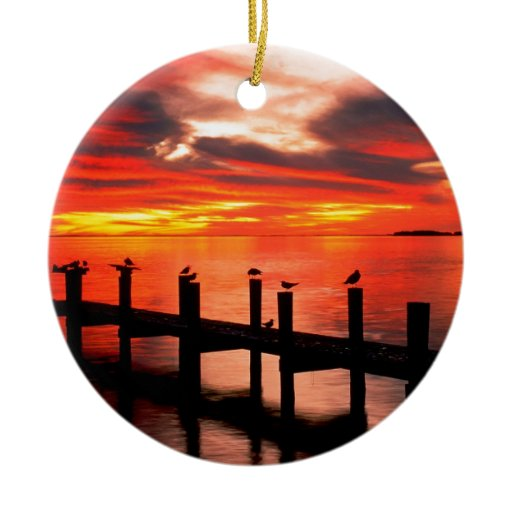Sunset Fort Myers Prom Florida Christmas Ornaments