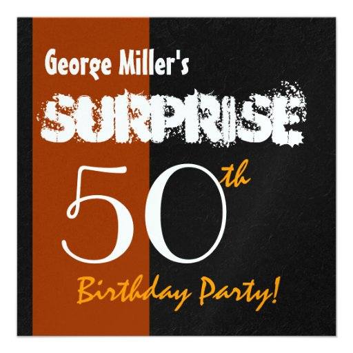SURPRISE 50th Birthday Modern For Him W1900 Personalized