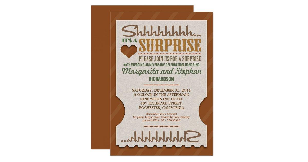 Surprise Wedding Invitation Wording: Surprise Wedding Anniversary Beautiful Invitations