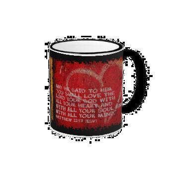 Surrendering All Matthew 22:37 Scripture Photo Art Coffee Mugs