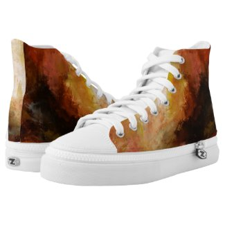 Custom Zipz Zapatillas High Top, Talla 4 americana de hombre = talla 6 americana de mujer
