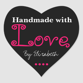 Handmade With Love Stickers | Zazzle