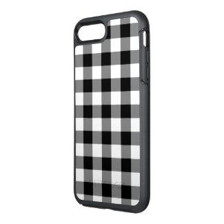 Classic Black and White Checked Plaid OtterBox Symmetry iPhone 7 Plus Case