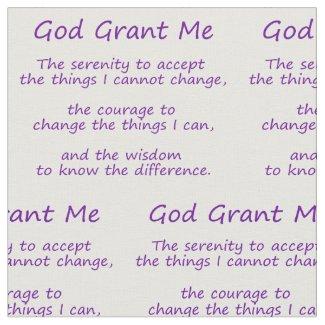 Serenity Prayer Poem Fabric Panel Material